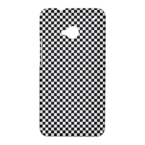 Sports Racing Chess Squares Black White HTC One M7 Hardshell Case