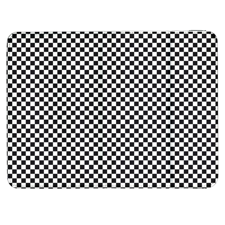 Sports Racing Chess Squares Black White Samsung Galaxy Tab 7  P1000 Flip Case