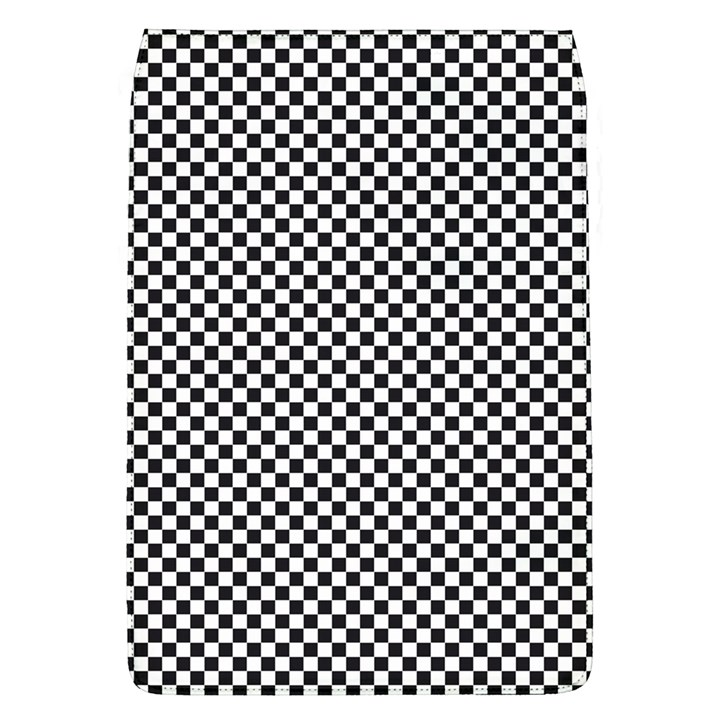 Sports Racing Chess Squares Black White Flap Covers (L)