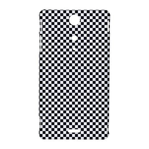 Sports Racing Chess Squares Black White Sony Xperia TX