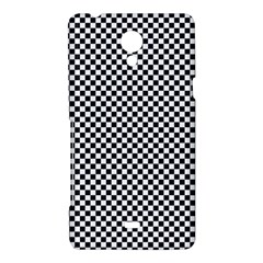 Sports Racing Chess Squares Black White Sony Xperia T