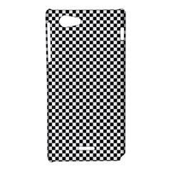 Sports Racing Chess Squares Black White Sony Xperia J