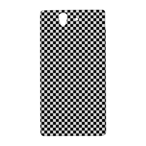 Sports Racing Chess Squares Black White Sony Xperia Z