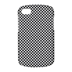 Sports Racing Chess Squares Black White BlackBerry Q10