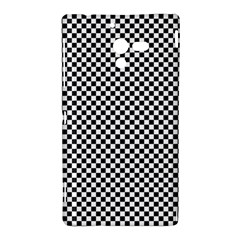 Sports Racing Chess Squares Black White Sony Xperia ZL (L35H)