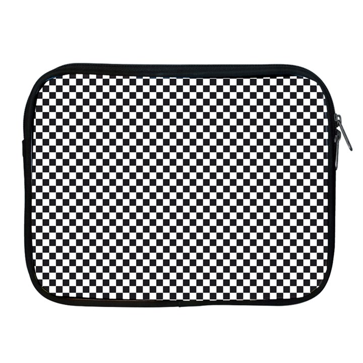 Sports Racing Chess Squares Black White Apple iPad 2/3/4 Zipper Cases