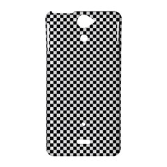 Sports Racing Chess Squares Black White Sony Xperia V