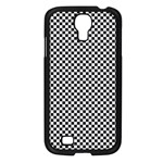 Sports Racing Chess Squares Black White Samsung Galaxy S4 I9500/ I9505 Case (Black) Front