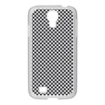 Sports Racing Chess Squares Black White Samsung GALAXY S4 I9500/ I9505 Case (White) Front