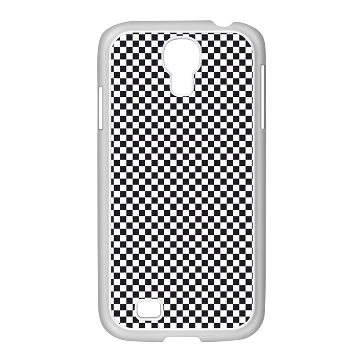 Sports Racing Chess Squares Black White Samsung GALAXY S4 I9500/ I9505 Case (White)