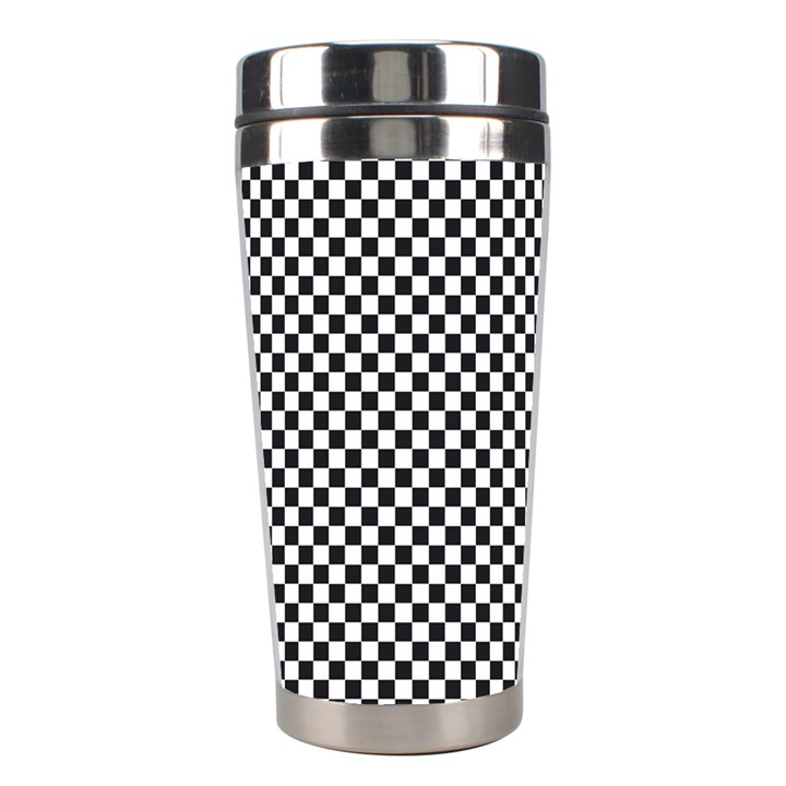 Sports Racing Chess Squares Black White Stainless Steel Travel Tumblers