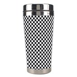 Sports Racing Chess Squares Black White Stainless Steel Travel Tumblers Center