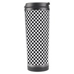 Sports Racing Chess Squares Black White Travel Tumbler Left