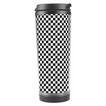 Sports Racing Chess Squares Black White Travel Tumbler Center
