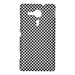 Sports Racing Chess Squares Black White Sony Xperia SP