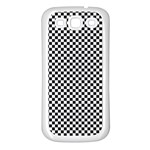 Sports Racing Chess Squares Black White Samsung Galaxy S3 Back Case (White) Front