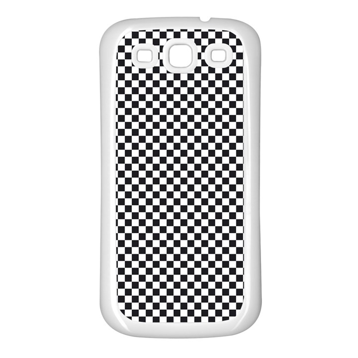 Sports Racing Chess Squares Black White Samsung Galaxy S3 Back Case (White)