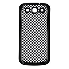 Sports Racing Chess Squares Black White Samsung Galaxy S3 Back Case (Black)