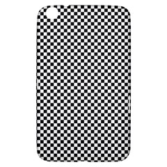 Sports Racing Chess Squares Black White Samsung Galaxy Tab 3 (8 ) T3100 Hardshell Case
