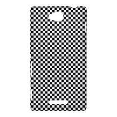 Sports Racing Chess Squares Black White Sony Xperia C (S39H)