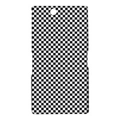 Sports Racing Chess Squares Black White Sony Xperia Z Ultra