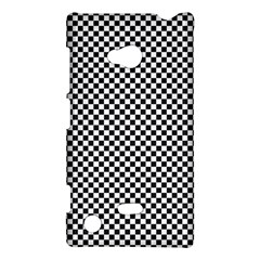 Sports Racing Chess Squares Black White Nokia Lumia 720