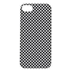 Sports Racing Chess Squares Black White Apple iPhone 5S/ SE Hardshell Case