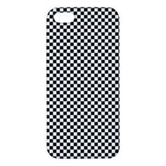 Sports Racing Chess Squares Black White iPhone 5S/ SE Premium Hardshell Case