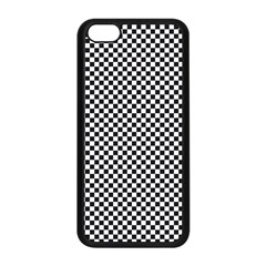 Sports Racing Chess Squares Black White Apple iPhone 5C Seamless Case (Black)