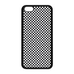 Sports Racing Chess Squares Black White Apple iPhone 5C Seamless Case (Black) Front