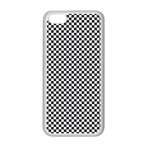 Sports Racing Chess Squares Black White Apple iPhone 5C Seamless Case (White)