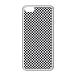 Sports Racing Chess Squares Black White Apple iPhone 5C Seamless Case (White) Front