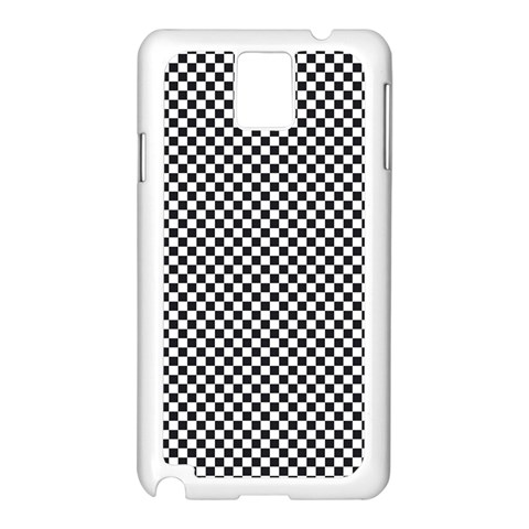 Sports Racing Chess Squares Black White Samsung Galaxy Note 3 N9005 Case (White)
