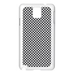 Sports Racing Chess Squares Black White Samsung Galaxy Note 3 N9005 Case (White) Front