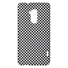 Sports Racing Chess Squares Black White HTC One Max (T6) Hardshell Case