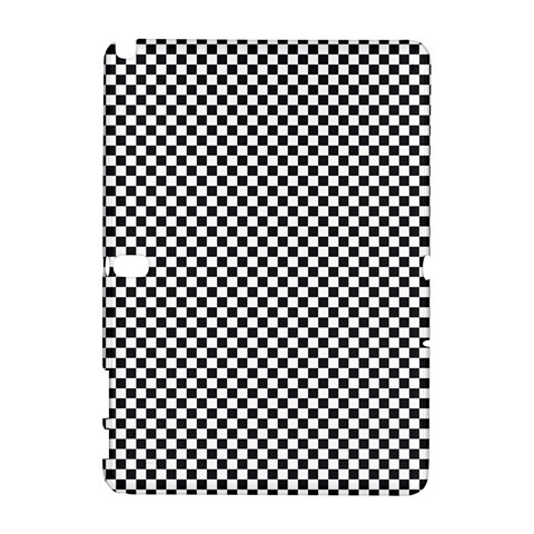 Sports Racing Chess Squares Black White Samsung Galaxy Note 10.1 (P600) Hardshell Case