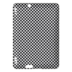 Sports Racing Chess Squares Black White Kindle Fire HDX Hardshell Case