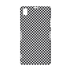 Sports Racing Chess Squares Black White Sony Xperia Z1