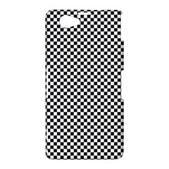 Sports Racing Chess Squares Black White Sony Xperia Z1 Compact