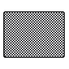 Sports Racing Chess Squares Black White Double Sided Fleece Blanket (Small)