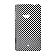 Sports Racing Chess Squares Black White Nokia Lumia 625
