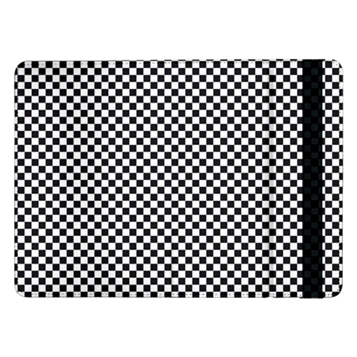 Sports Racing Chess Squares Black White Samsung Galaxy Tab Pro 12.2  Flip Case