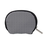 Sports Racing Chess Squares Black White Accessory Pouches (Small)  Back