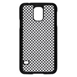 Sports Racing Chess Squares Black White Samsung Galaxy S5 Case (Black) Front