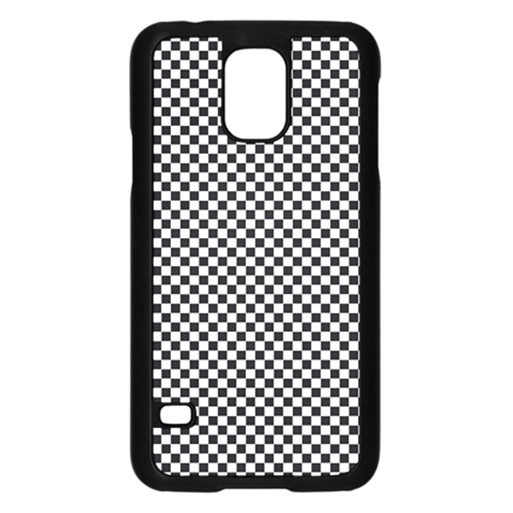 Sports Racing Chess Squares Black White Samsung Galaxy S5 Case (Black)