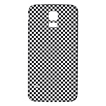 Sports Racing Chess Squares Black White Samsung Galaxy S5 Back Case (White) Front
