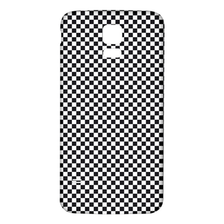 Sports Racing Chess Squares Black White Samsung Galaxy S5 Back Case (White)