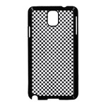 Sports Racing Chess Squares Black White Samsung Galaxy Note 3 Neo Hardshell Case (Black) Front