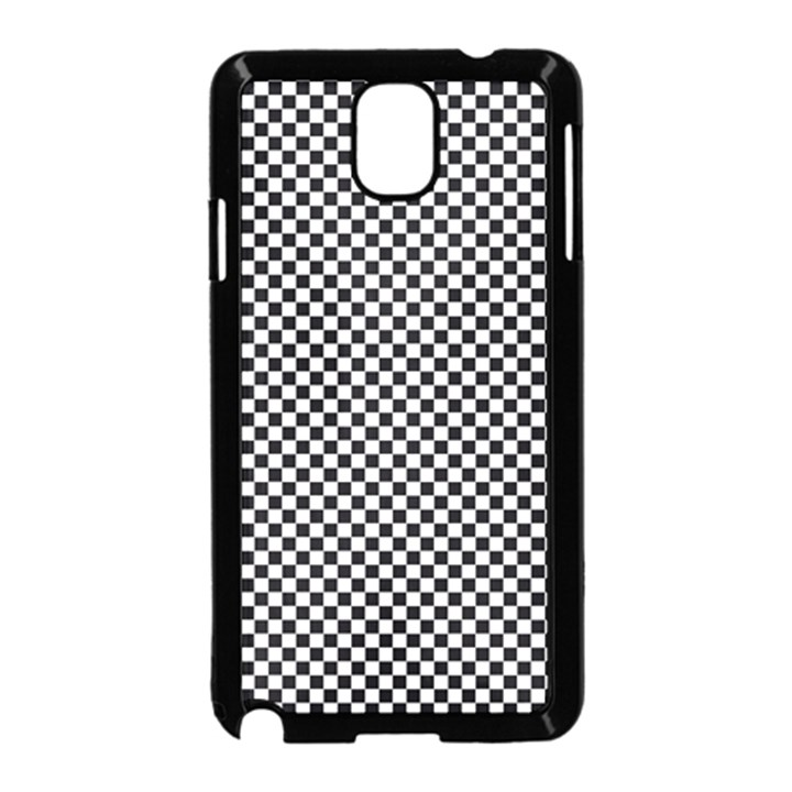 Sports Racing Chess Squares Black White Samsung Galaxy Note 3 Neo Hardshell Case (Black)