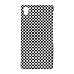 Sports Racing Chess Squares Black White Sony Xperia Z2